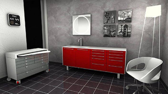 Arredo Joy red and grey